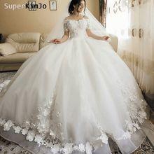 Superkimjo 3d Свадебные платья с цветами свадебное платье 2020