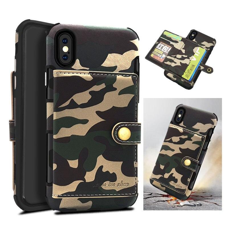 Lancase для IPhone X кожаный чехол флип камуфляж держатель для карт ТПУ Камо Коке для iphone 8 8 плюс 7 7 Plus 6 s 6 плюс чехол бумажник