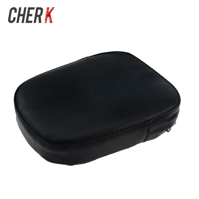 Cherk Black Motorcycle Universal Backrest Sissy Bar Cushion Pad For Harley Kawasaki Honda Suzuki Yamaka BMW KTM