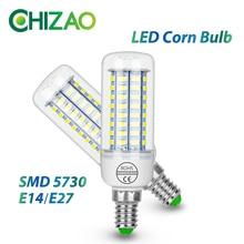 CHIZAO E14/E27 LED Lamp 5730 SMD Corn Bulb For Home Decoration Ampoule Bombillas Light Bulbs Lampada Spotlight High Lumen