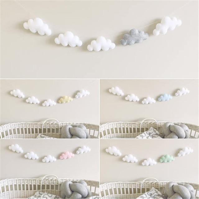 5 teil/satz Einfache Wolke Girlande Ornament kinder Schlafzimmer ...