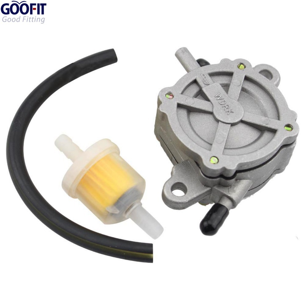 GOOFIT Outlet Pump Fuel Pump assembly for Gy6 50cc 125cc ATV Go Kart Scooter Moped 4 Wheeler Quad Bikes Dune Buggy Group-75
