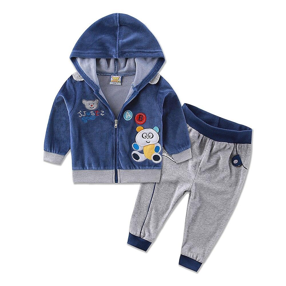 New Arrival Velvet Male Female Child Set Casual Children S Clothing Set Children Sports Set Male
