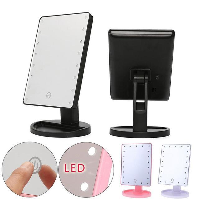 16 LED Maquillage Miroir Avec Cran Tactile Rglable