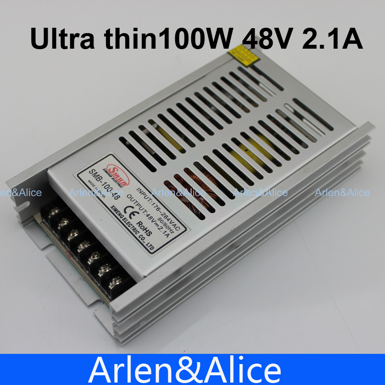 100W 48V 100V-260V INPUT Ultra thin Single Output Switching power supply for LED Strip light 1200w 12v 100a adjustable 220v input single output switching power supply for led strip light ac to dc