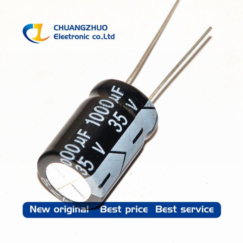 1000PCS Higt Quality 35V1000UF 10*20mm 1000UF 35V 10*20 Electrolytic Capacitor