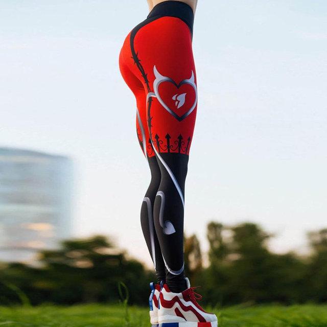 Compression Elastic Sport Printed Leggings