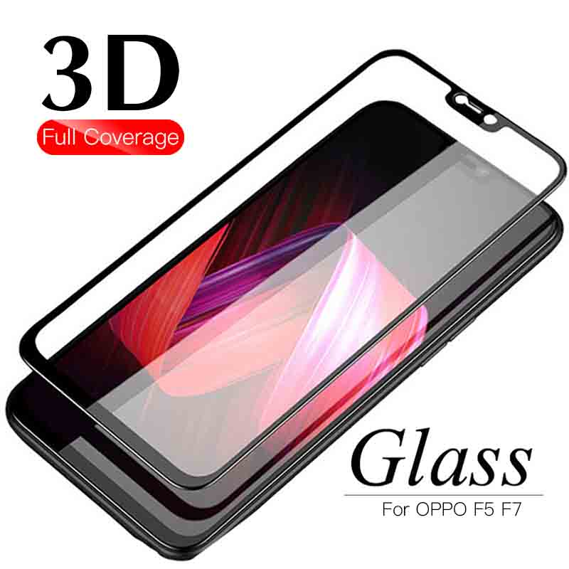 Glass For Oppo F5 Protective Glass On The For Oppo F7 F 5 7 Screen Protector Tempered Glas Protection Film 9h 2.5d Protect