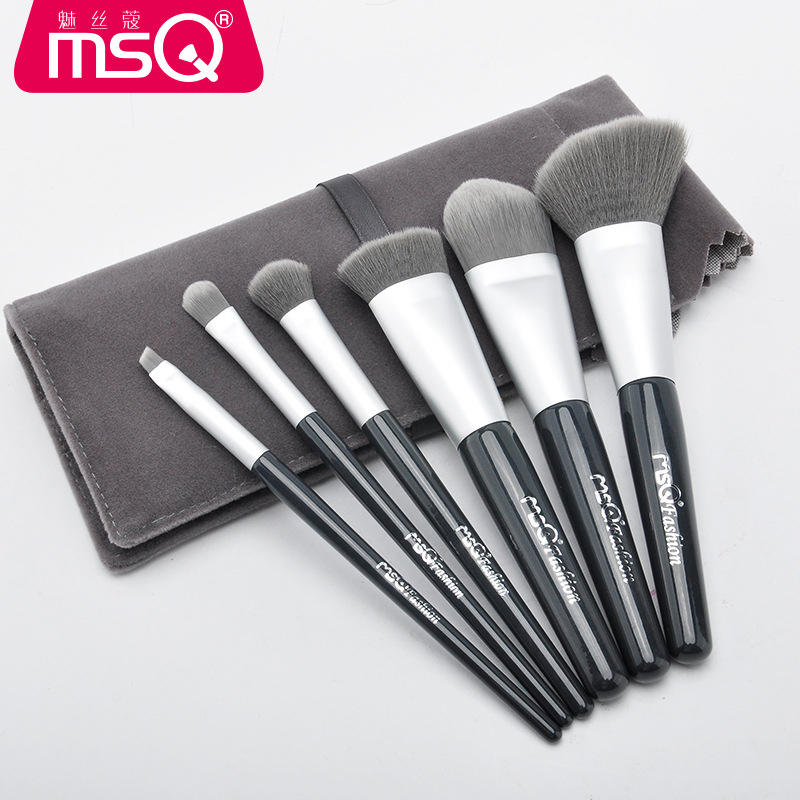 MSQ Pro 6Pcs Makeup Brushes Set Comestic Powder Foundation Blush Eyeshadow Eyeliner Lip Beauty Make up Brush Tools Maquiagem купить