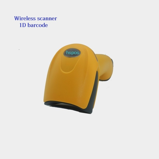 1D portable wireless barcode scanner high-end laser barcode reader for supermarket easy to use no driver plug and play