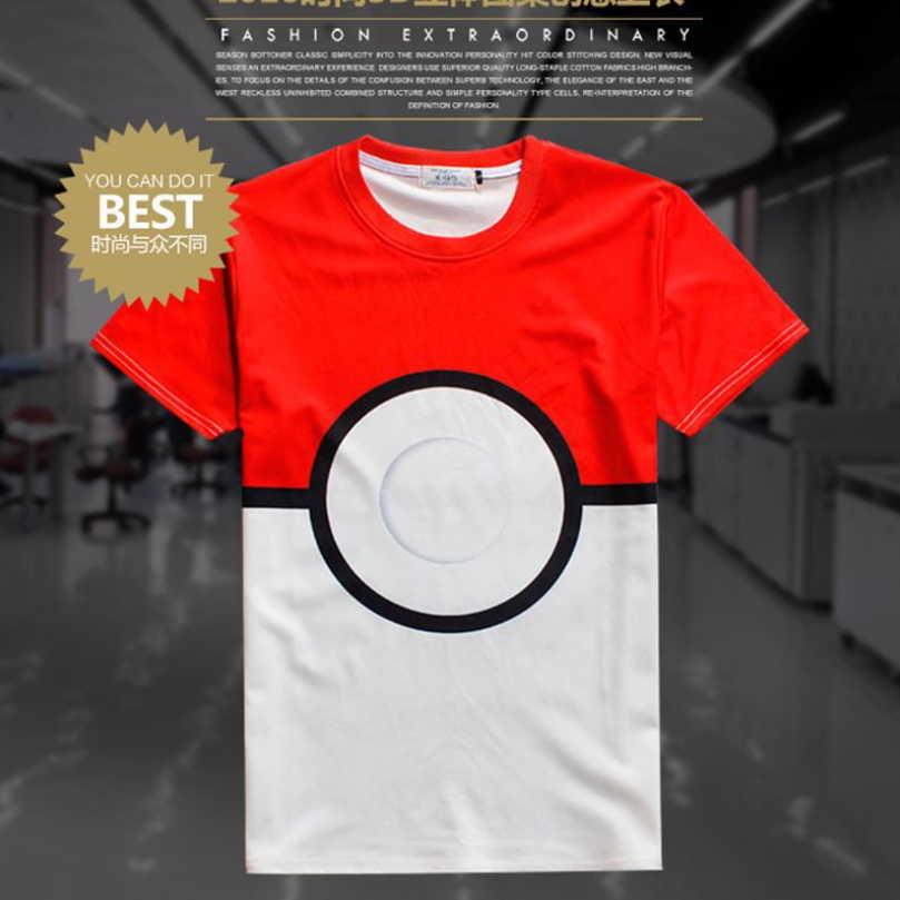 Pokemon мужская майка Аниме с коротким рукавом Футболки повседневная Pokemon яйца 3D печати рубашка покемон перейти смешные футболки для Косплей подарок