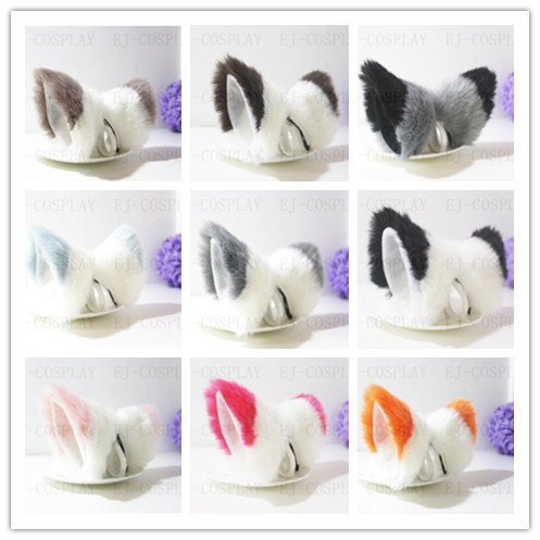 Us 8 25 New Arrival Cosplay Perspective Clip Cat Ears Inu Boku Secret Service Cos Color Stitching Fox Ears In Men S Costumes From Novelty Special
