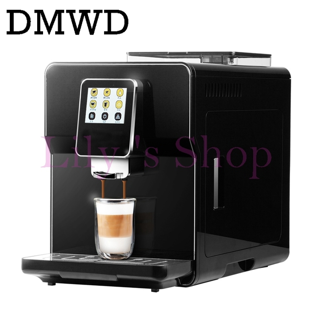 Commercial Fancy Cappuccino Coffee Maker Milk Foam Bubble Italian 19bar Espresso Machine Beans