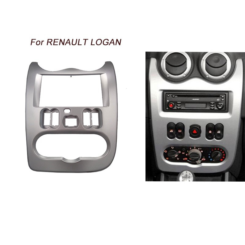 Image 5 - Car Radio Fascia for RENAULT Logan Sandero DACIA Duster Facia Frame Panel Dash Adapter CD trim Bezel Frame-in Fascias from Automobiles & Motorcycles