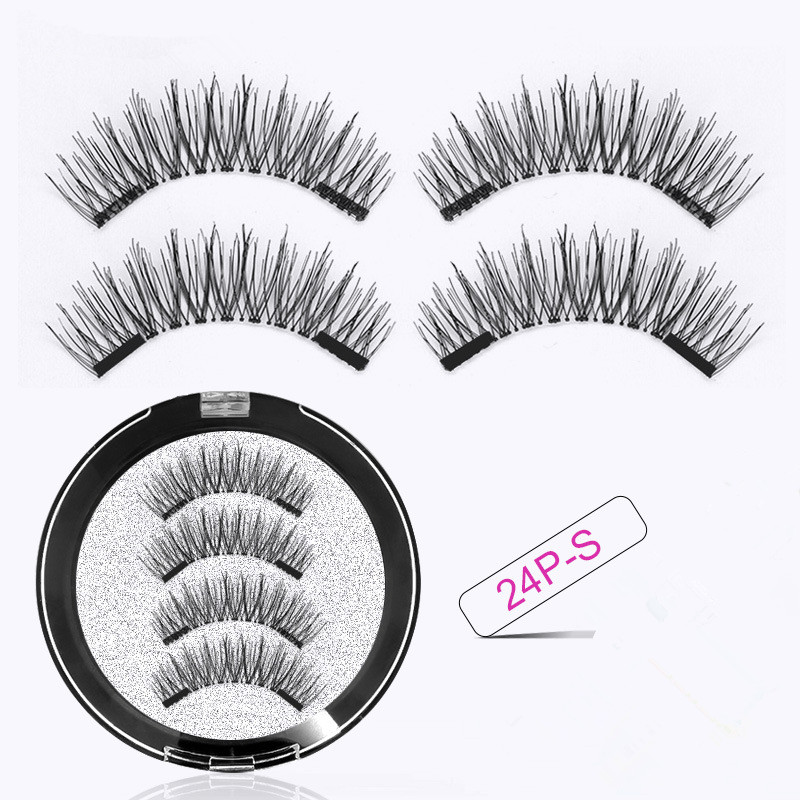 3D Nature Eyelashes Handmade Double Magnets Full Strip Magnetic  Eyelashes Reusable Eyelashes Extended Makeup