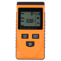 Electromagnetic Radiation Tester Electromagnetic EMF Magnetic Electric Field MicroTesla V/m Tester Electrical Meter Detector