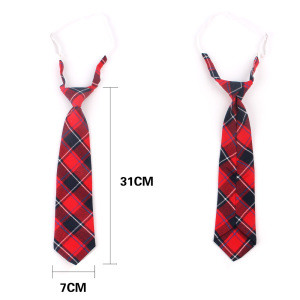 Fashion Women Neck Tie for Christmas Cotton Boys Girls Ties Slim Plaid Necktie For Gifts Casual Novelty Tie Rubber Neckties