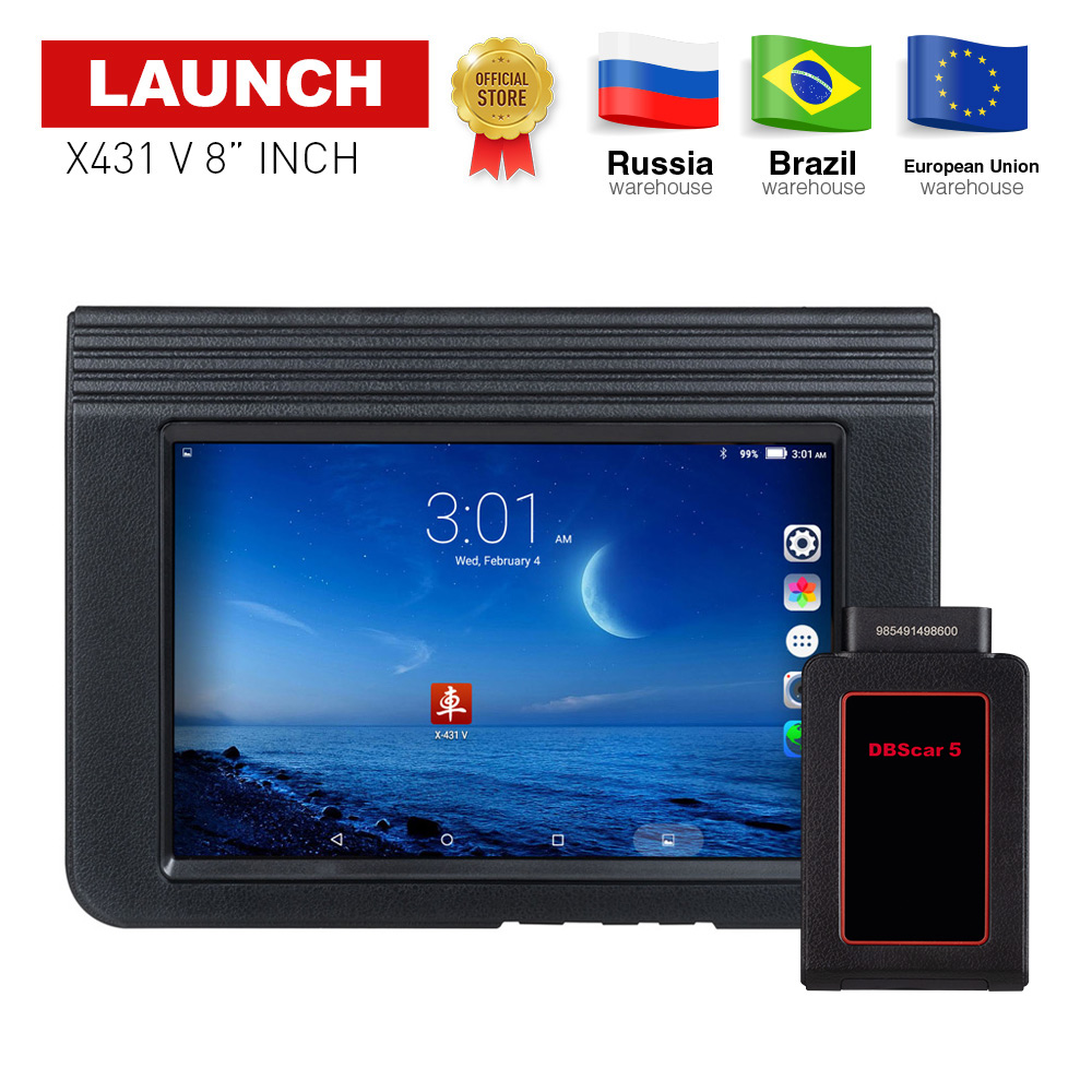 LAUNCH X431 V 8 Global version Full System Auto Diagnostic Tool X-431 V Bluetooth/Wifi obd2 car Scanner with 2 years free update цена 2017
