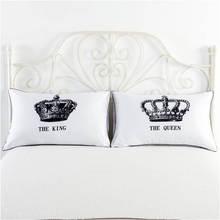 Home Textile 2 Pcs/Set White Couple Pillowcase 50*70 cm Romantic Love Single Pillow Cover  Bedding
