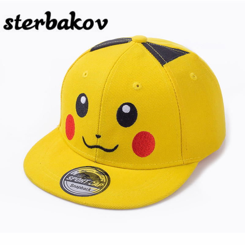 pokemon Fashion sterbakov kisfiú kislány rajzfilm hip-hop kalapkép kimono gyermek kalap