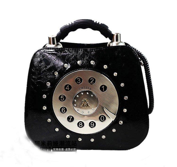 New Hot Fashion Amliya Abstract Lady's Handbags Messenger bags tote bag romatic Retro phone shape handbag 4 colors