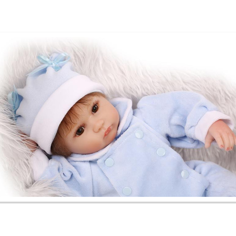 Real Reborn Babies Silicone Reborn Baby Dolls Best Birthday Wedding Gift for Friends,15 Inch Realistic Doll Educational Toy