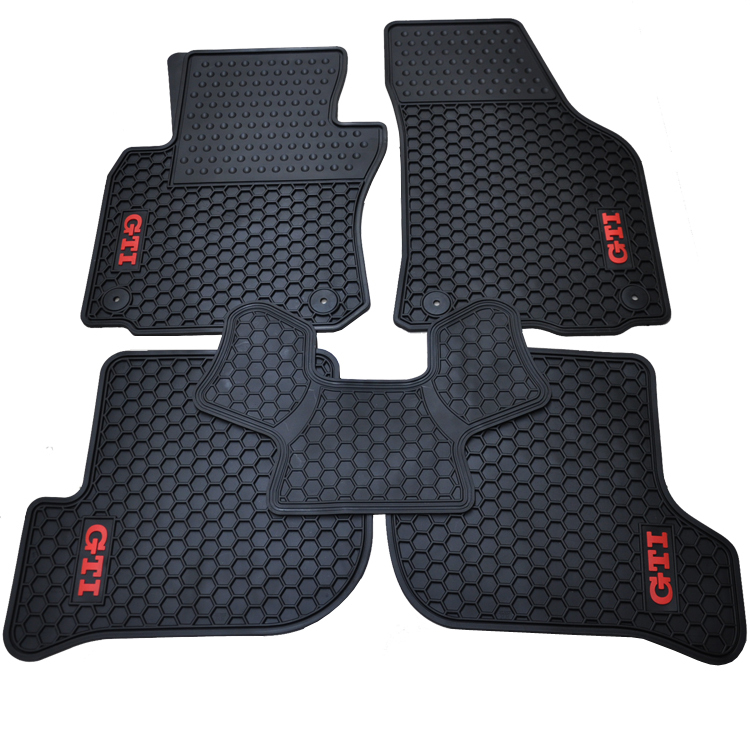 special rubber pads wear waterproof green latex car floor mats for VW Golf 6 Scirocco R Octavia Sagitar GTIspecial rubber pads wear waterproof green latex car floor mats for VW Golf 6 Scirocco R Octavia Sagitar GTI