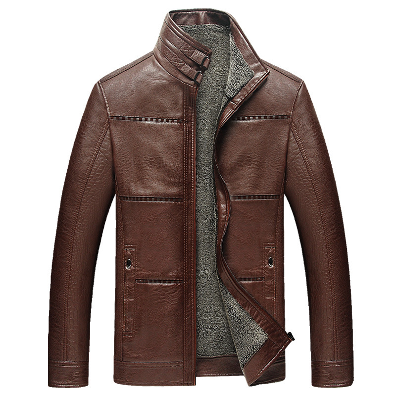 Aliexpress.com : Buy SHOWERSMILE Brand Brown Leather Jackets For ...