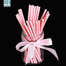 25 pcs/lot Pure Color Paper Drinking Straws Creative Drinking Tubes Party Supplies For Wedding