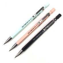 Crayon mécanique 1 pièces, recharge de plomb 2.0mm, crayon automatique noir/bleu/rose pour le dessin des examens