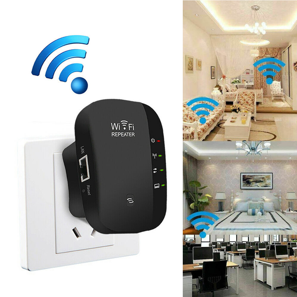 WiFi Blast Wireless Repeater Range Extender 300Mbps Amplifier For Home Office GT66