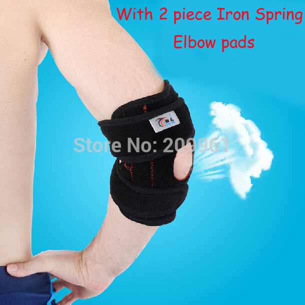 Pro with 2 Spring basketball tennis arthritis sports Adjustable Elbow support protector elbow pad pads guard