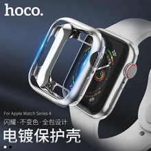 Original HOCO Soft TPU Case for Apple Watch 4 40mm / 44mm Fashion Plated Protective Cover iWatch Silicone Bumper