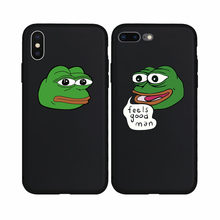Cartoon Meme Pepe Frog Fashion Soft Case for iPhone 6 6Plus 6s 6sPlus 7 7Plus 8 8Plus X Xs XS Max XR 5s SE Phone Cover Coque(China)