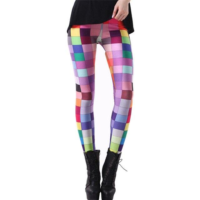 DOUBLA Womens Elastic High Waist Digital 3D Printed Leggings 2017 Girl Pants Plaid Cloud Wolf Elephant Costume Plus Size 3XL