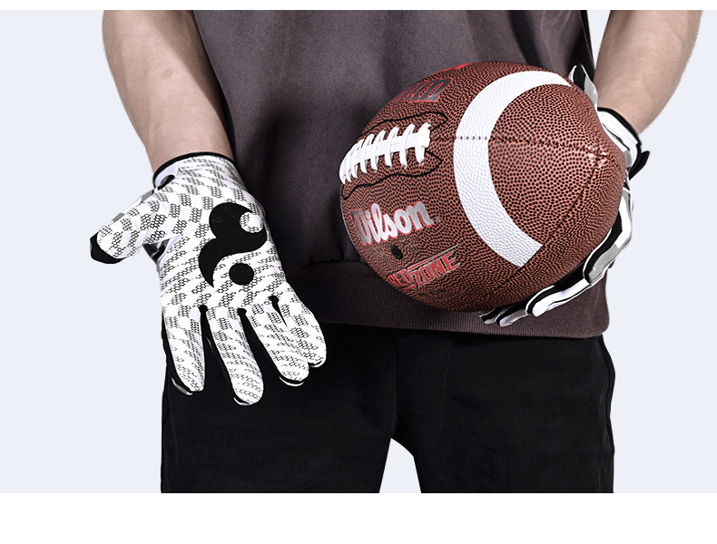 Free Shipping,Brand new quality OL DL glove,pro American football gloves,customize gloves,full fingers.goalkeeper sticky-in Men's Gloves from Apparel Accessories