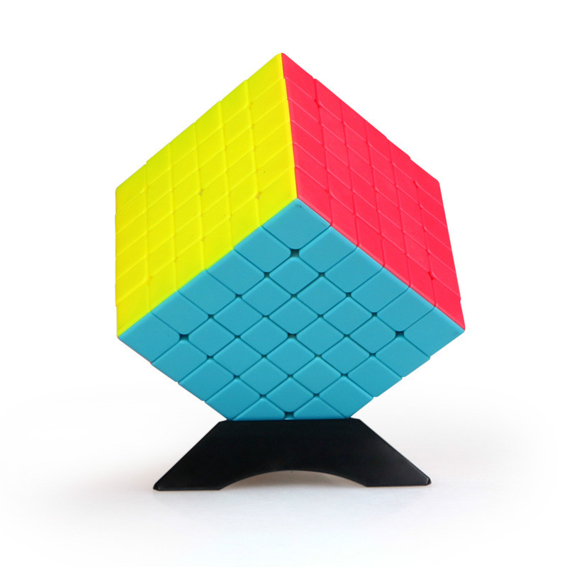 qifan s magia puzzle cube qiyi qifan 6x6 6x6x6 stickerless cubo de velocidade preto original cubo