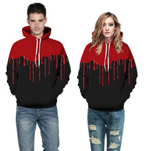 Foreign Trade New Digital Printing Men and Women Sweatshirt Blood Drops Pattern Printing Pullovers Loose Large Size Casual Wear