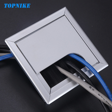TOPNIKE 80mm 160mm 275mm Computer Desk Wire Hole Cover Zinc Alloy Square Line Table Cable Outlet Port Threading