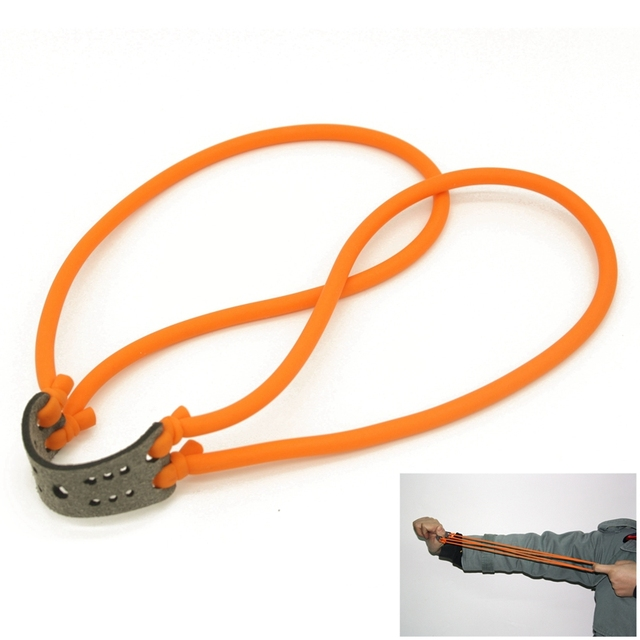 1PC  Hunting Shooting Slingshot Natural Latex Rubber Tube Band Sling shot Parts Catapult Elastic  Bungee Equipment 8 word buckle 3