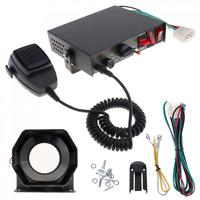 12V 200W 8 Sound Hands Free Speaker Car Warning Alarm Police Fire Siren Horn PA With