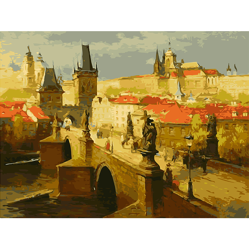 Unframed Classical European Architecture DIY Digital Oil Painting By ...