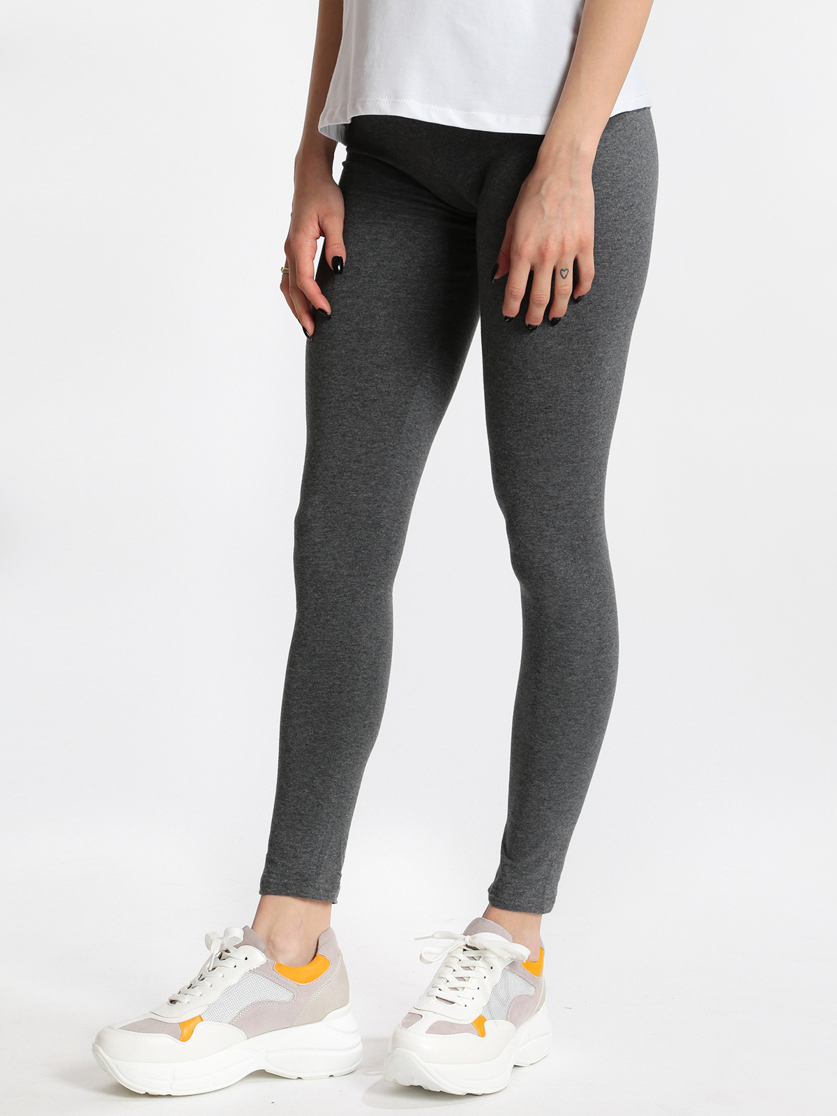 Gray Leggings Cotton