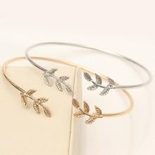 Trendy Explosive Leaf Bracelet Opening Quickly Selling Wih Manufacturer Wholesale bracelets for women