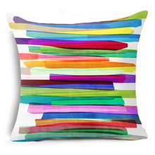 YVEVON Colorful Geometry Pattern Cushion Covers Home Decorative Pillowcase Throw Pillows Cover For Couch Sofa 45cm 18inch