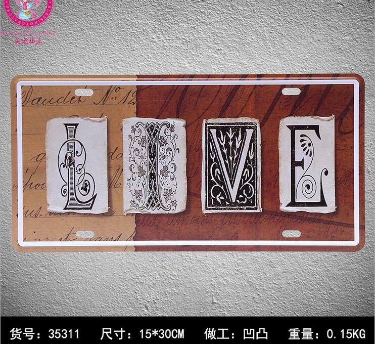 LIVE Tin Sign Club Wall sticker Metal Car License IRON License Plates Antique Metal Tin Painting Tin Signs Pub DECOR ...