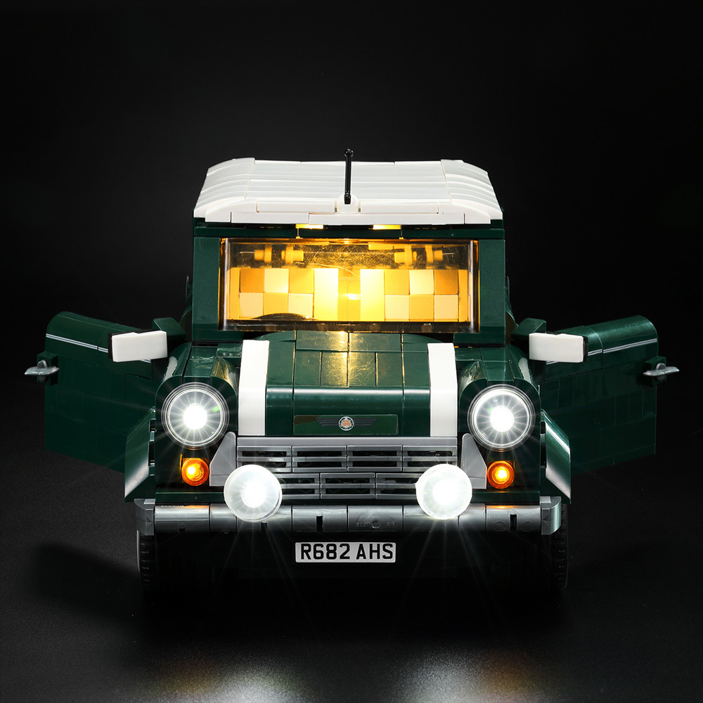 Led Light Kit For lego and lepin the mini copper bricks model Compatible With 10242 and 21002 blocks set (not include the car) 1077 pcs building blocks yile 002 mini cooper model building car for kids bricks for gift compatible with lego 10242 new 21002