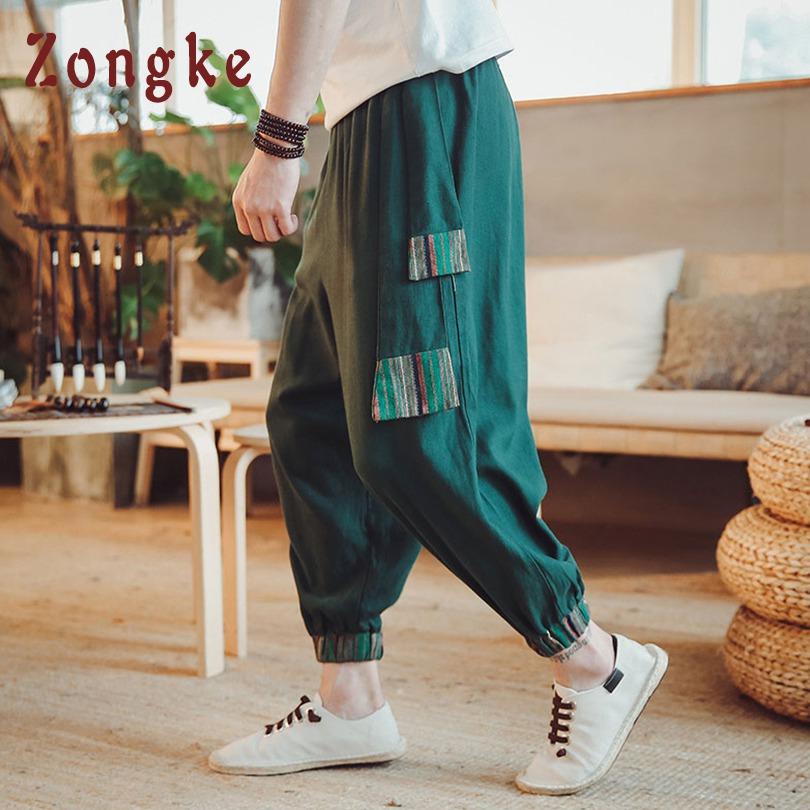 Popular Brand Zongke Chinese Dragon Pattern Pants Men Trousers Japanese Streetwear Sweatpants Hip Hop Pants Mens Clothing Men Pants 2019 New Pants