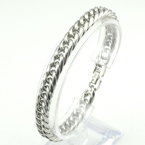 Boy's Men's Stainless Steel Link Chain Bracelet 16 Fashion Jewellery, Wholesale Free shipping, HB027 8