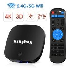 Leelbox Android 8.1 Smart TV Box 2GB 16GB 2.4G/5G Wifi H.265 4K HD Google Streaming Media Player Set Top Box Netflix IPTV Box